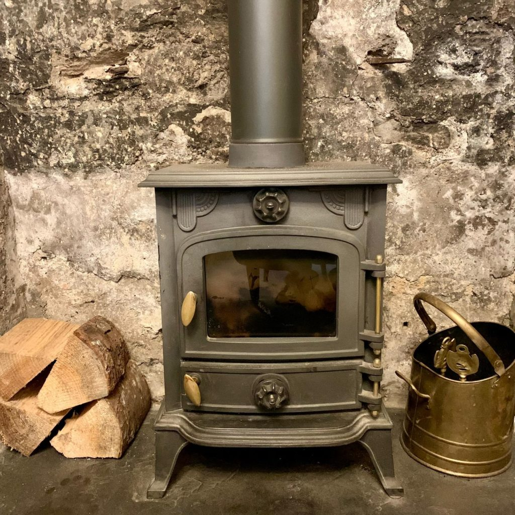 Wood Burner Living Room - Primrose Cottage Exmoor