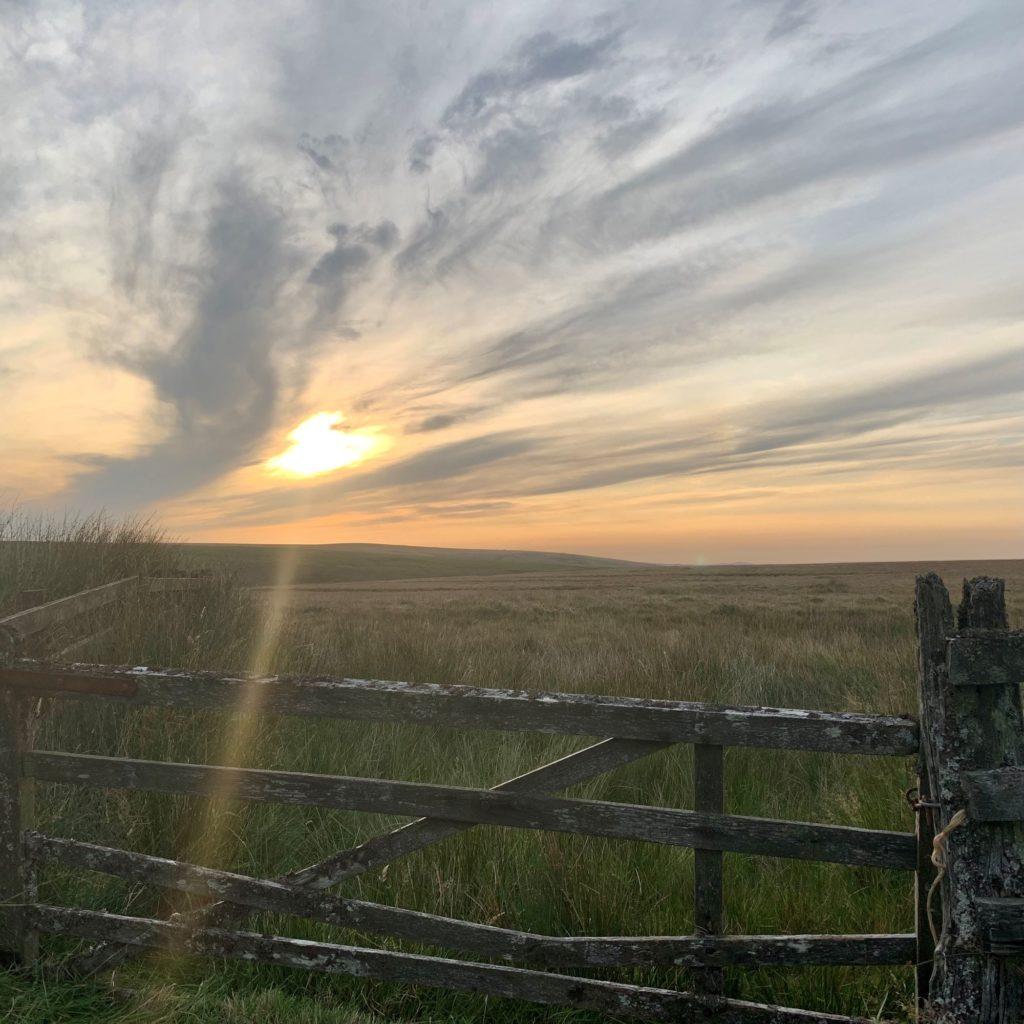 Sunset on the moors. Exmoor