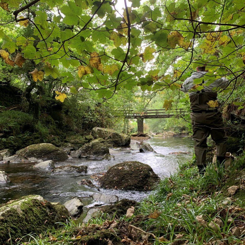 The East Lyn - Rockford Foot Bridge - Simon Fishing