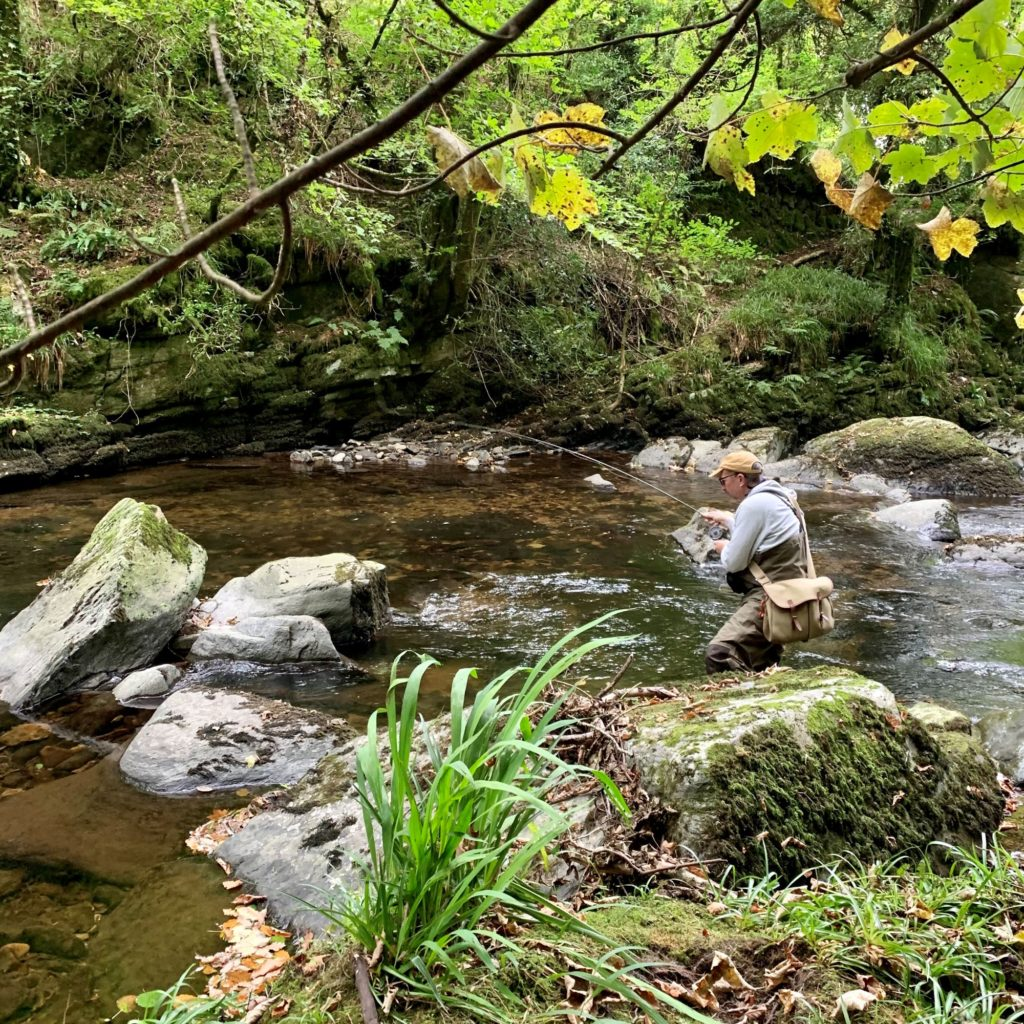 The East Lyn - Simon Fishing for Trout